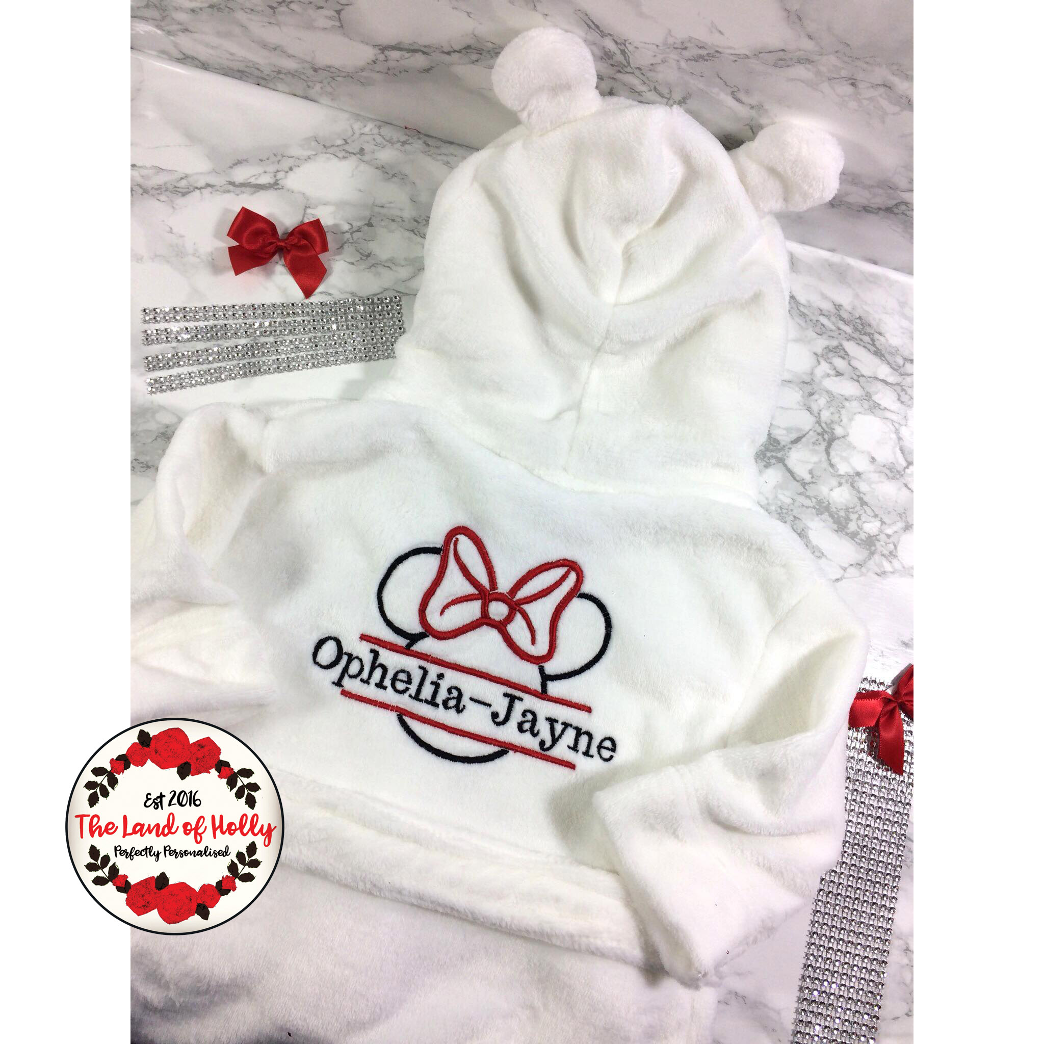 Magnificent Personalised Minnie Mouse Dressing Gown Mold - Wedding ...