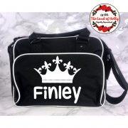 black crown changing bag