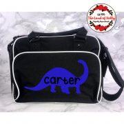 dino changing bag black