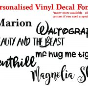 personalised vinyl decal fonts